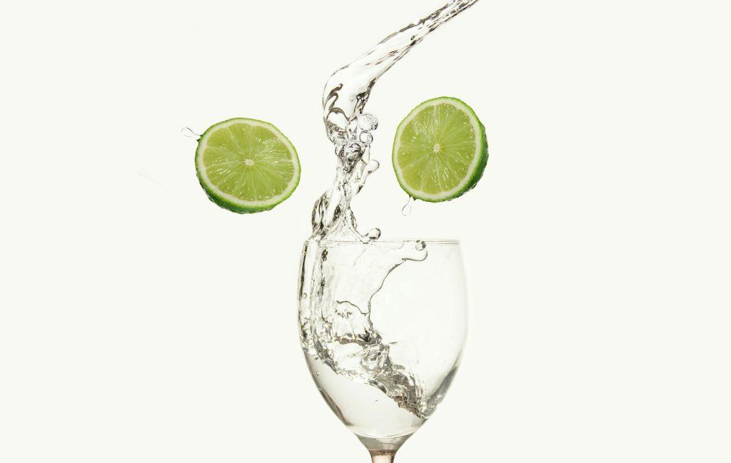 eau minéral au lémon